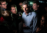 Democratic 2020 presidential candidate Beto O'Rourke, 46, speaks with members of the media during a three day road trip across Iowa, in Dubuque, Iowa, U.S., March 16, 2019.  REUTERS/Ben Brewer