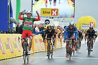 Sykkel<br /> Tour of Norway 2014<br /> Foto: Mario Stiehl/imago/Digitalsport<br /> NORWAY ONLY<br /> <br /> 25.05.2014<br /> Alexander KRISTOFF ( NOR / Team Katusha Katjuscha ) gewinnt die fünfte und letzte Etappe der Norwegen Rundfahrt 2014 vor Jempy DRUCKER ( LUX / Wanty - Groupe Goubert ) und Gerald CIOLEK ( GER / MTN Qhubeka )<br /> <br /> Stage 5 Gjøvik til Hønefoss