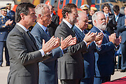Honorific awarding of medals. Jorge Fern·ndez DÌaz, Mariano Rajoy, Miguel Angel Arias CaÒete applaud after the act