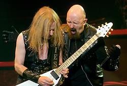 Lead Guitarist KK Downing and Vocalist Rob Halford of Judas Priest  13th February 2009 © Paul David Drabble