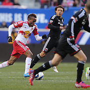 Dane Richards , New York Red Bulls, in action during the New York Red Bulls Vs D.C. United Major League Soccer regular season match at Red Bull Arena, Harrison, New Jersey. USA. 22nd March 2015. Photo Tim Clayton