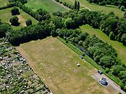 Nederland, Utrecht, Gemeente De Bilt; 27-05-2020; het KNMI, het Koninklijk Nederlands Meteorologisch Instituut in de Bilt. Veld met meetapperatuur.<br /> KNMI, the Royal Dutch Meteorological Institute in De Bilt.<br /> luchtfoto (toeslag op standard tarieven); <br /> aerial photo (additional fee required)<br /> copyright © 2020 foto/photo Siebe Swart