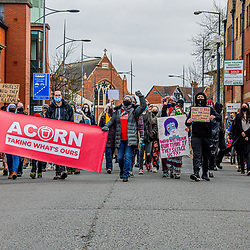 Kill the Bill Swindon. Peaceful protest at Swindon kill the bill march as they peacefully walked doe commercial road 03/04/20201