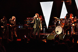 © Licensed to London News Pictures. 01/04/2016. BOBBY GILLESPIE<br /> with fellow members of Primal Scream play at The London Palladium as part of their UK Tour. London, UK. Photo credit: Ray Tang/LNP