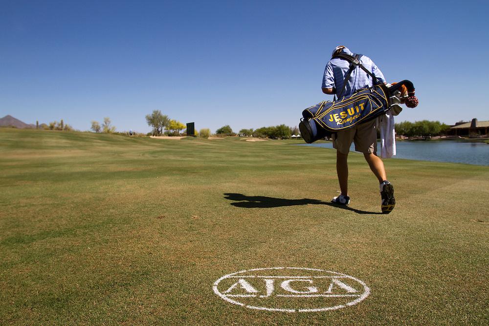 American Junior Golf Association player Jordan Spieth at the Thunderbird International Junior tournament.
