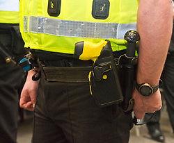 EMBARGOED TILL 16:00 14 DECEMBER 2017<br /> Pictured: <br /> <br /> Deputy Chief Constable Johnny Gwynne was at Tullialan Police College today tol make an announcement on police officer safety with 500 sadditional officers being trained and deployed with tasers to combat the number of incidents where officers are injured.<br /> <br /> Ger Harley   EEm 14 December 2017