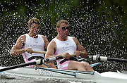 Henley, ENGLAND; GBR M2- Matthew Pinsent and James Cracknell, semi-final Silver Goblets and Nickalls' Challenge Cup. Rowing Courses, Henley Reach 2002 Henley Royal Regatta [Mandatory Credit; Peter Spurrier: Intersport Image] . HRR. 20020703 Henley Royal Regatta, Henley, Great Britain