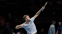 Tennis - 2017 Nitto ATP Finals at The O2 - Day Five<br /> <br /> Group Boris Becker Singles: Alexander Zverev (Germany) Vs Jack Sock (United States)<br /> <br /> Jack Sock (United States) celebrates reaching the semi finals after his victory at the O2 Arena<br /> <br /> COLORSPORT/DANIEL BEARHAM