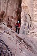 Rappeling, Wadi Rum, Jordan