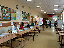 September 10, 2017 - Russia - Municipal and regional elections held across Russia on September 10, 2017, during a so-called single voting day. The Russian citizens elected 16 heads of regions, as well as  the legislative assembly lawmakers in six Russian federal subjects. In addition, the elections of lawmakers to the country's lower house of parliament, the State Duma, of the seventh convocation took place in two single-seat districts - Kingiseppsky district in the Leningrad Region and Bryansky district. Photo: twitter.com/Toshan_Vl (Credit Image: © Russian Look via ZUMA Wire)