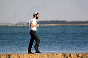 Israel, Dead Sea, A tourist on the shore