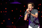 """WASHINGTON, DC - January 31st,  2013 - Nate Ruess of fun. performs at DAR Constitution Hall in Washington, D.C. The band is still riding high off of the success of their sophomore album """"Some Nights"""" which featured with hits """"We Are Young"""" and the title track. (Photo by Kyle Gustafson/For The Washington Post)"""