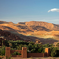 Africa, Morocco, Ouarzazate. View from Ait Ben Haddou, a UNESCO World Heritage Site and setting for many films.