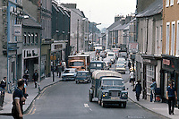 Main Street, Strabane, Co Tyrone, N Ireland, UK, 197800074SMS..Copyright Image from Victor Patterson, 54 Dorchester Park, Belfast, United Kingdom, UK...For my Terms and Conditions of Use go to http://www.victorpatterson.com/Victor_Patterson/Terms_%26_Conditions.html