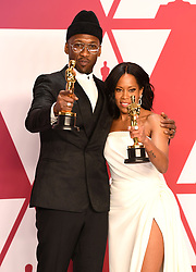 "Mahershala Ali, winner of the Best Actor In A Supporting Role Award for ""Green Book"" and Regina King, winner of the Best Actress In A Supporting Role Award for ""If Beale Street Could Talk"" at the 91st Annual Academy Awards"