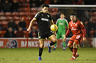 AFC Wimbledon defender Will Nightingale (5) during the EFL Sky Bet League 1 match between Walsall and AFC Wimbledon at the Banks's Stadium, Walsall, England on 12 February 2019.