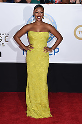Annie Ilonzeh at the 49th NAACP Image Awards held at the Pasadena Civic Auditorium on January 15, 2018 in Pasadena, CA ©TArroyo/AFF-USA.com. 15 Jan 2018 Pictured: Samira Wiley. Photo credit: MEGA TheMegaAgency.com +1 888 505 6342