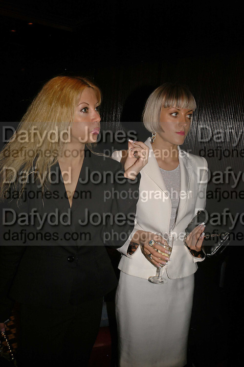 Laura Brown and Tina Makuwaite, Spring party at Frankie Dettori's bar and Grill. 3 Yeoman's Row. London sw3. 10 April 2006. ONE TIME USE ONLY - DO NOT ARCHIVE  © Copyright Photograph by Dafydd Jones 66 Stockwell Park Rd. London SW9 0DA Tel 020 7733 0108 www.dafjones.com