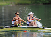 Bled, SLOVENIA,  GBR W2-, Bow, Jessica EDDIE and Alison KNOWLES, on the second day of the FISA World Cup, Bled. Held on Lake Bled.  Saturday  29/05/2010  [Mandatory Credit Peter Spurrier/ Intersport Images] Cop last event as international level.