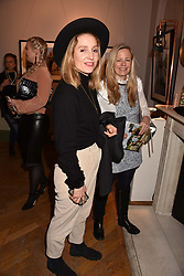Connie Allfrey and Astrid Harbord at Mark Shand's Adventures and His Cabinet Of Curiosities VIP private view, 32 Portland Place, London, England. 20 February 2018.