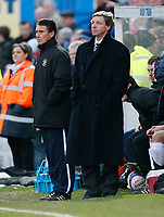 Photo: Steve Bond/Sportsbeat Images.<br /> Macclesfield Town v Hereford United. Coca Cola League 2. 26/12/2007. hereford manager Graham Turner looks on