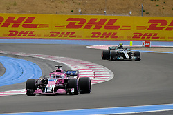 June 23, 2018 - Le Castellet, Var, France - Force India 11 Driver SERGIO PEREZ (MEX) in action during the Formula one French Grand Prix at the Paul Ricard circuit at Le Castellet - France. (Credit Image: © Pierre Stevenin via ZUMA Wire)