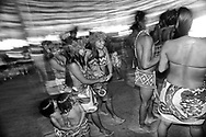Flutes, turtle shells and percussion instruments guide the movement of dancers. People perform a variety of dances, most involving women only and some in which women and men dance together. Most are simple and easy to identify as they draw their inspiration from the movements of animals.