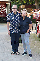 Ade Edmondson, Jennifer Saunders, Giffords Circus Press Night - Celebrity Arrivals, Chiswick House & Gardens, London, UK, 28 June 2018, Photo by Richard Goldschmidt