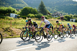 Marie Vilmann (DEN) on the first climb at La Course by Le Tour de France 2018, a 112.5 km road race from Annecy to Le Grand Bornand, France on July 17, 2018. Photo by Sean Robinson/velofocus.com