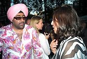 HARDEEP SINGH KOHLI; LADY NAIPAUL, Tatler Summer Party. The Hempel. Craven Hill Gdns. London. 25 June 2008 *** Local Caption *** -DO NOT ARCHIVE-© Copyright Photograph by Dafydd Jones. 248 Clapham Rd. London SW9 0PZ. Tel 0207 820 0771. www.dafjones.com.