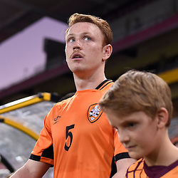 BRISBANE, AUSTRALIA - JANUARY 31: Corey Brown of the Roar walks out during the second qualifying round of the Asian Champions League match between the Brisbane Roar and Global FC at Suncorp Stadium on January 31, 2017 in Brisbane, Australia. (Photo by Patrick Kearney/Brisbane Roar)