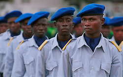 KINSHASA, DEMOCRATIC REPUBLIC OF CONGO - JUNE 30, 2001 - Soldiers from the Democratinc Republic of Congo participated in the independence day celebrations marking 41 years of independence from Belgium. (PHOTO © JOCK FISTICK)