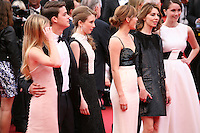 Israel Broussard, Taissa Fariga, Emma Watson, Sofia Coppola, Katie Chang.at the gala screening of Jeune & Jolie at the 2013 Cannes Film Festival 16th May 2013