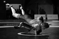 Athletes compete in the Greco-Roman style Wrestling Canada Olympic Trials ahead of the 2020 Tokyo Olympics in Niagara Falls, ON on Thursday, December 5, 2019. THE CANADIAN PRESS/Peter Power