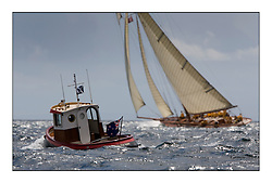 Little Toot the support boat for Lady Anne...* The Fife Yachts are one of the world's most prestigious group of Classic  yachts and this will be the third private regatta following the success of the 98,  and 03 events.  ..Marc Turner / PFM Pictures