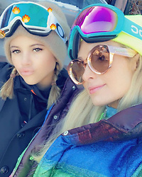 """Paris Hilton releases a photo on Twitter with the following caption: """"""""#SnowBunnies in #Aspen. ❄️🐰🐰❄️"""""""". Photo Credit: Twitter *** No USA Distribution *** For Editorial Use Only *** Not to be Published in Books or Photo Books ***  Please note: Fees charged by the agency are for the agency's services only, and do not, nor are they intended to, convey to the user any ownership of Copyright or License in the material. The agency does not claim any ownership including but not limited to Copyright or License in the attached material. By publishing this material you expressly agree to indemnify and to hold the agency and its directors, shareholders and employees harmless from any loss, claims, damages, demands, expenses (including legal fees), or any causes of action or allegation against the agency arising out of or connected in any way with publication of the material."""