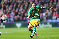 Martin Olsson of Norwich City in action. Barclays Premier League match, Crystal Palace v Norwich city at Selhurst Park in London on Saturday 9th April 2016. pic by John Patrick Fletcher, Andrew Orchard sports photography.