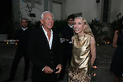 GEORGIO ARMANI AND FRANCA SOZZANI, Luomo Vogue 40th Anniversary dinner. Palazzo Litta. Milan. 22 June 2008 *** Local Caption *** -DO NOT ARCHIVE-© Copyright Photograph by Dafydd Jones. 248 Clapham Rd. London SW9 0PZ. Tel 0207 820 0771. www.dafjones.com.