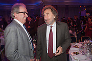 GERALD SCARFE; HOWARD JACOBSON, The Sky South Bank Arts Awards, Dorchester Hotel , Park Lane, London. 1 May 2012.