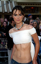 Keira Knightley at the 'Pirates of Caribbean -  The curse of the black pearl'  in Disneyland.  Half length.