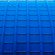 Exterior of blue building