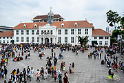 Jakarta, officially the Special Capital Region of Jakarta (Indonesian: Daerah Khusus Ibukota Jakarta), is the capital and largest city of Indonesia<br /> <br /> On the Photo: Fatahillah Square (Indonesian: Taman Fatahillah) is the historical center of the old Batavia.