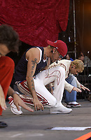 Backstreet Boys onstage performing at the United We Stand: What More Can I Give? Concert a music benefit in the Nation's Capital to raise money in support of the recovery efforts from the September 11th attacks on America. The proceeds will go to various relief funds.  October 21, 2001 (Photo: Jeff Snyder)