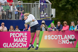 Great Britain's Holly Clyburn tees off at the 1st hole during day ten of the 2018 European Championships at Gleneagles PGA Centenary Course.
