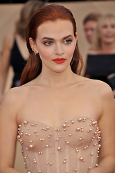 Madeline Brewer  arrives at the 24th annual Screen Actors Guild Awards at The Shrine Exposition Center on January 21, 2018 in Los Angeles, California. <br /><br />(Photo by Sthanlee Mirador/Sipa USA)