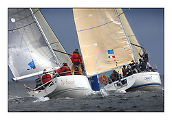 Brewin Dolphin Scottish Series 2011, Tarbert Loch Fyne - Yachting - Day 1 of the 4 day series..GBR 9033R, No Retreat!, David & Jackie Riley, Royal Thames YC and IRL1666 ,Carmen II ,Jeffrey/Scutt ,CCC/HSC ,First 36.7..