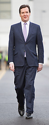© Licensed to London News Pictures . 28/01/2013 . Manchester , UK . GEORGE OSBORNE , the British Chancellor of the Exchequer and MP for Tatton , at Manchester Piccadilly Train Station today (28th January 2013) as the government are due to reveal the proposed route for HS2 rail , linking Manchester , Leeds and Birmingham to London . Photo credit : Joel Goodman/LNP