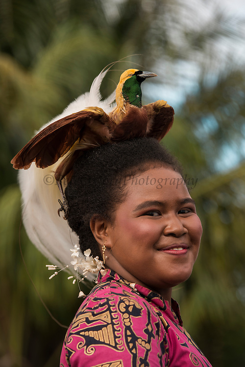 Bird of Paradise Headdress<br /> Local People<br /> Independence Day Celebration<br /> Biak Island<br /> West Papua<br /> Indonesia