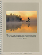 PRODUCT: Calendar 2011<br /> TITLE: 'Silent Lake'<br /> CLIENT: Inner Reflections