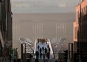 The Millenium Bridge leading to the Tate Modern art gallery in London, UK
